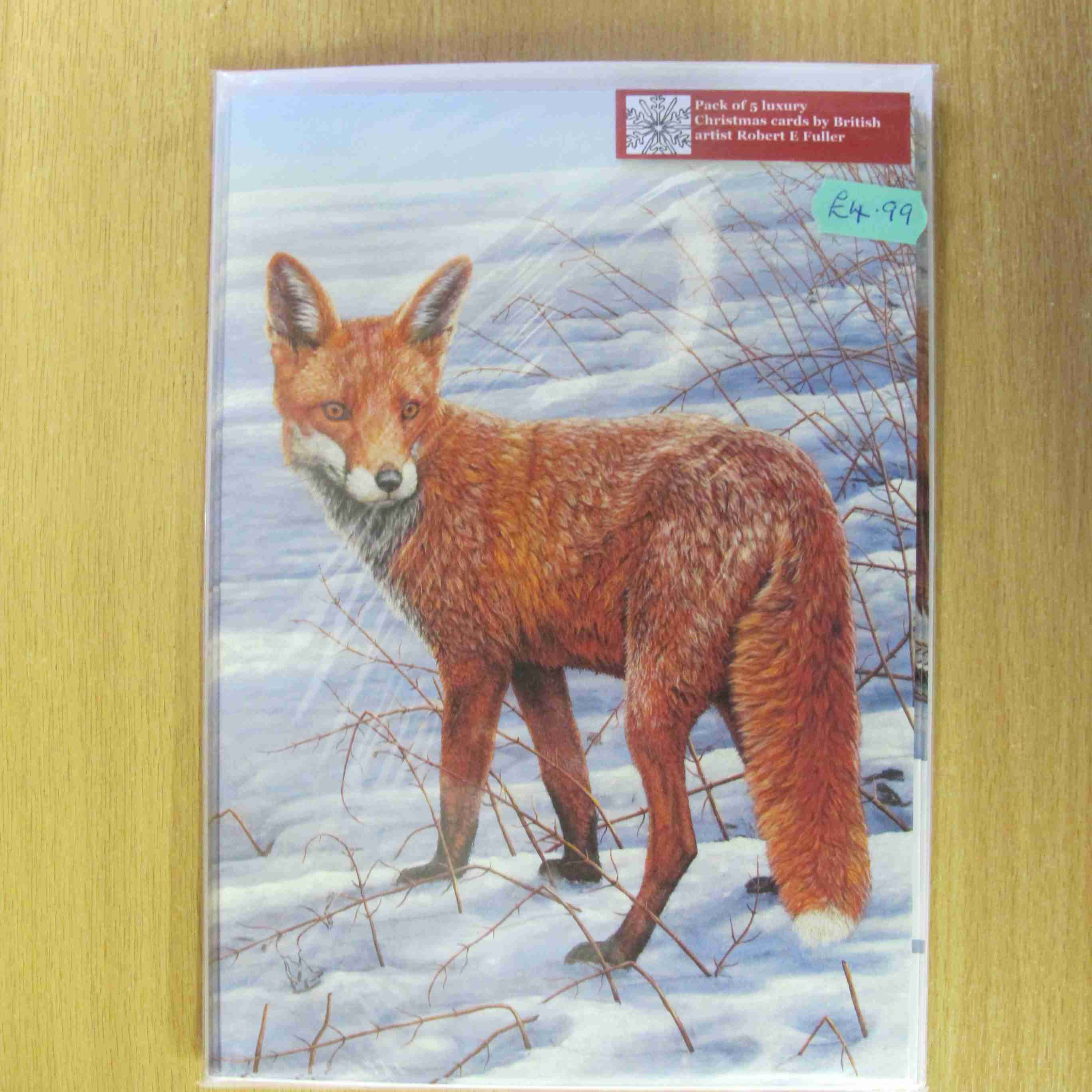 Fox Christmas cards by Robert Fuller - Secret World Wildlife Rescue